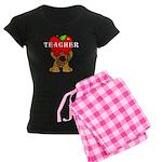 Teachers Apple Bear Women's Dark Pajamas