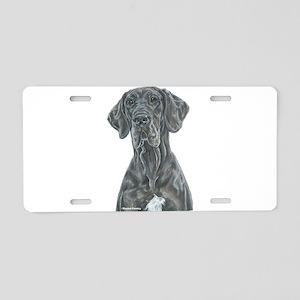 NBlu Portrait Aluminum License Plate