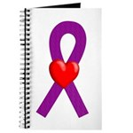 Purple Ribbon Heart Journal