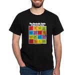 Comics Periodic Table Black T-Shirt
