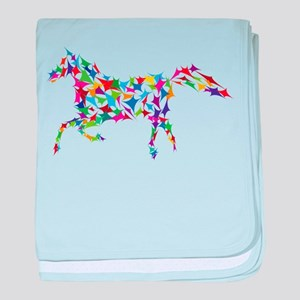 Abstract Horse baby blanket