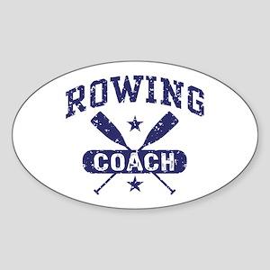 Rowing Coach Sticker (Oval)