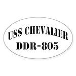 USS CHEVALIER Sticker (Oval)
