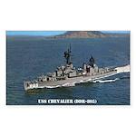 USS CHEVALIER Sticker (Rectangle)