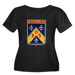 USS CHEVALIER Women's Plus Size Scoop Neck Dark T-