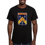 USS CHEVALIER Men's Fitted T-Shirt (dark)