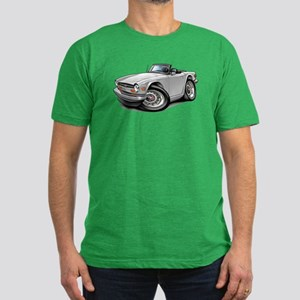 Triumph TR6 White Car Men's Fitted T-Shirt (dark)