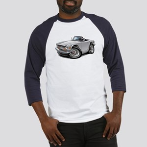 Triumph TR6 White Car Baseball Jersey