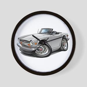 Triumph TR6 White Car Wall Clock