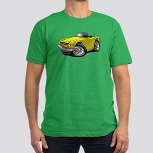 Triumph TR6 Yellow Car Men's Fitted T-Shirt (dark)