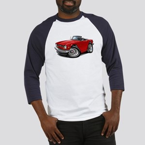 Triumph TR6 Red Car Baseball Jersey