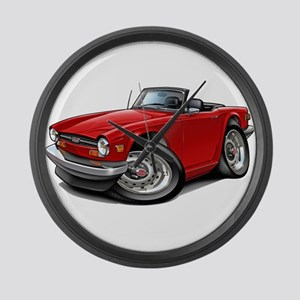 Triumph TR6 Red Car Large Wall Clock