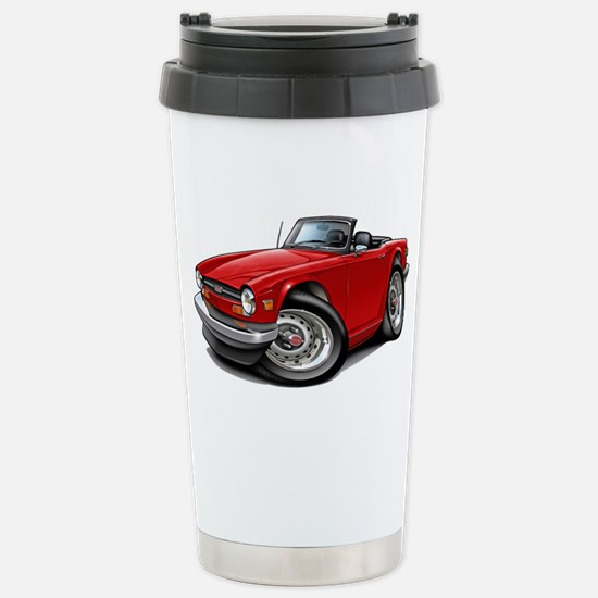 Triumph TR6 Red Car Stainless Steel Travel Mug