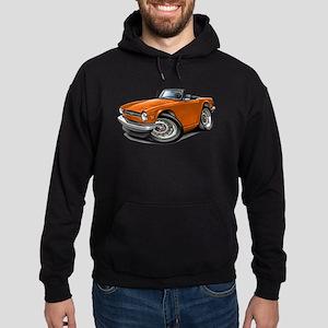Triumph TR6 Orange Car Hoodie (dark)