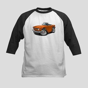 Triumph TR6 Orange Car Kids Baseball Jersey
