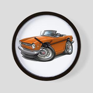Triumph TR6 Orange Car Wall Clock