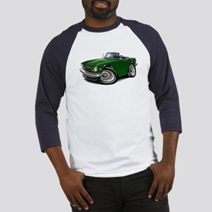 Triumph TR6 Green Car Baseball Jersey