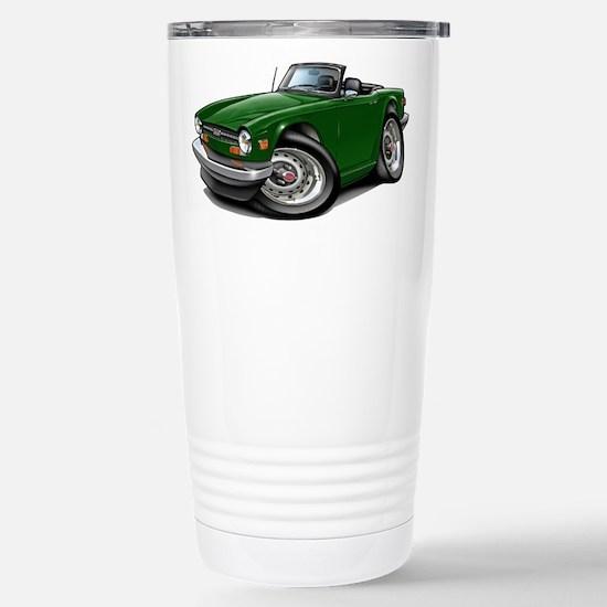 Triumph TR6 Green Car Stainless Steel Travel Mug