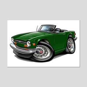 Triumph TR6 Green Car Mini Poster Print