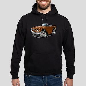 Triumph TR6 Brown Car Hoodie (dark)