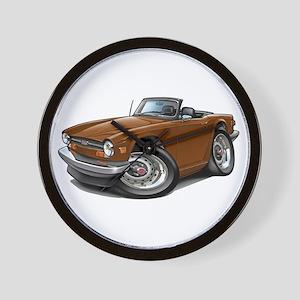 Triumph TR6 Brown Car Wall Clock