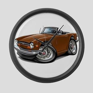 Triumph TR6 Brown Car Large Wall Clock