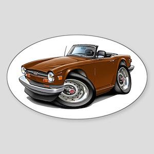 Triumph TR6 Brown Car Sticker (Oval)