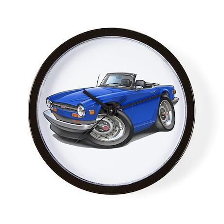 Triumph TR6 Blue Car Wall Clock