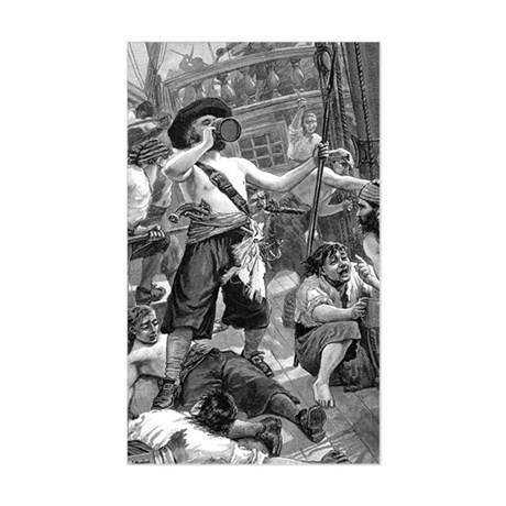 Vintage Pirates Sticker (Rectangle)