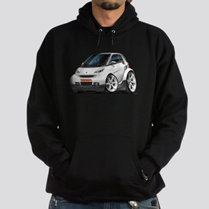 Smart White Car Hoodie (dark)