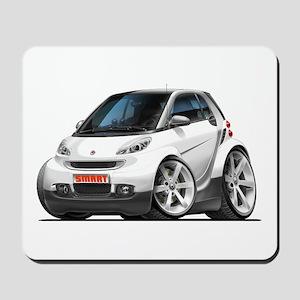 Smart White Car Mousepad