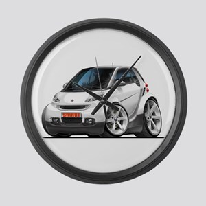 Smart White Car Large Wall Clock