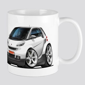 Smart White Car Mug