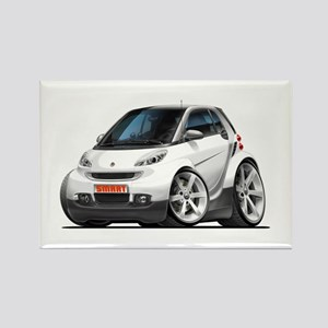 Smart White Car Rectangle Magnet