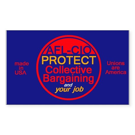 Collective Bargaining Sticker (Rectangle)