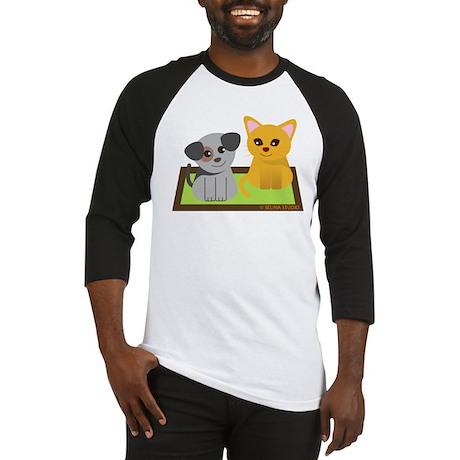 """""""Puppy + Kitty"""" Baseball Jersey"""