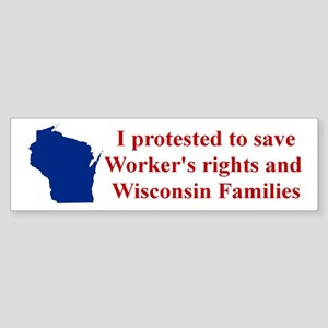 I Protested... Sticker (Bumper)