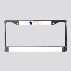 I Protested... License Plate Frame