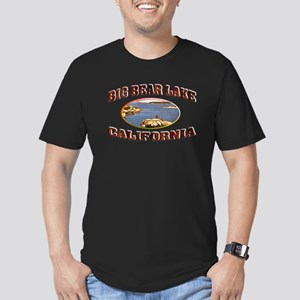 Big Bear Lake Men's Fitted T-Shirt (dark)