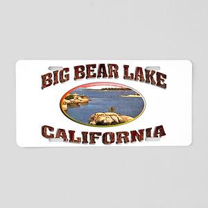 Big Bear Lake Aluminum License Plate