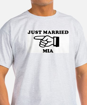 Just Married Mia Ash Grey T-Shirt