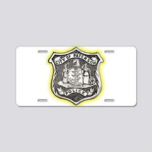 Paterson Police Aluminum License Plate