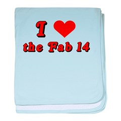 I <3 the Fab 14 baby blanket
