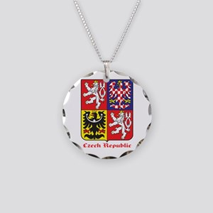 Czech Necklace Circle Charm