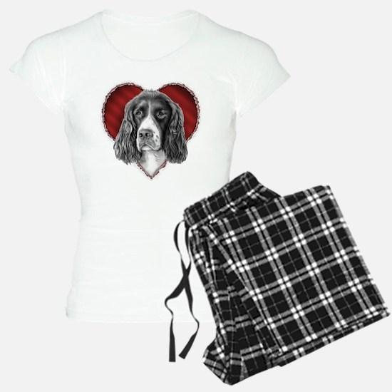 Springer Spaniel Valentine Pajamas