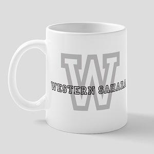 Letter W: Western Sahara Mug