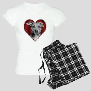 Pit Bull Terrier Valentine Women's Light Pajamas