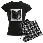 Border Collie Women's Dark Pajamas