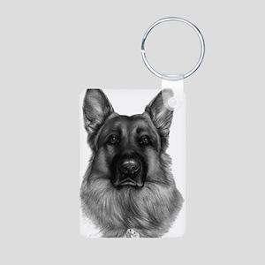 Rikko, German Shepherd, Polic Aluminum Photo Keych