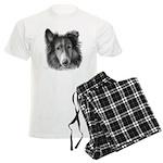 Rough Collie Men's Light Pajamas